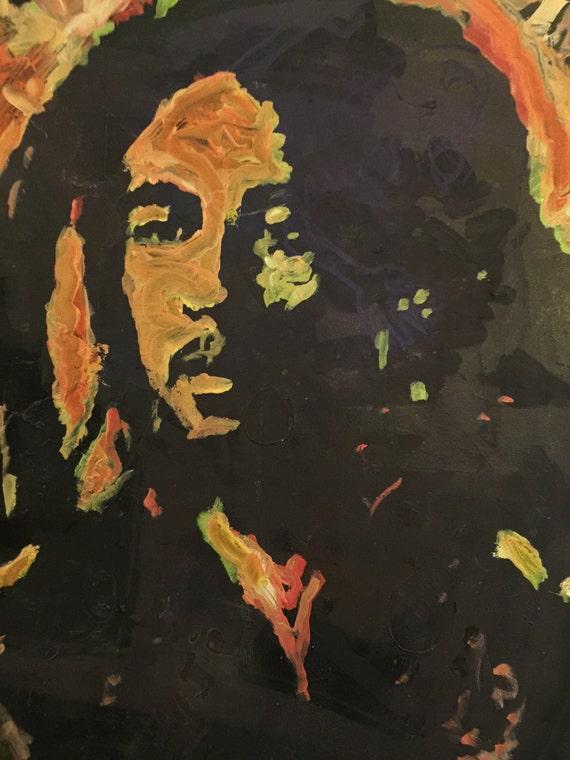 Bob Marley Art By Matt Pecson Boho Wall Decor Pop Painting