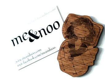Parenting/ Cosleeping wooden magnet