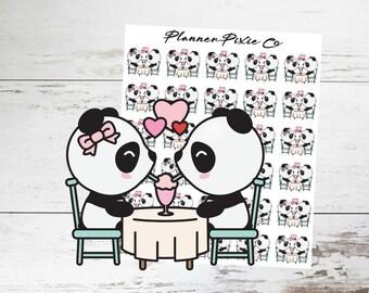 Panda Planner Stickers // Valentine's Day // 044