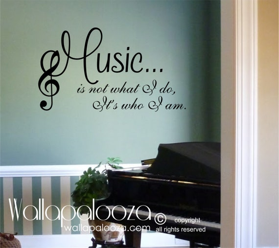 Delightful Music Wall Decal Music Wall Decor Music Love Music