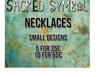 Small sacred symbol necklaces specially priced sets