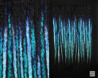 Turquoise Dreadlocks   Dreads   Blue   Synthetic   Crocheted   Pieces 10-100   SE DE   Alternative Hairstyle   Blue   Black