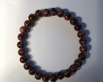 Marble beads Earth toned
