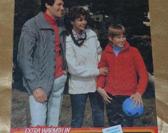 Lister Lee K1544 Family Jacket Knitting Pattern