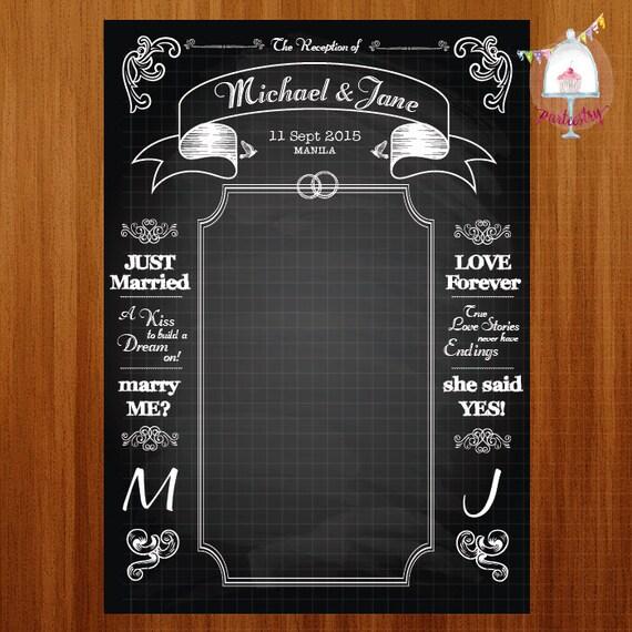 Chalkboard Wedding Backdrop Banner Printable