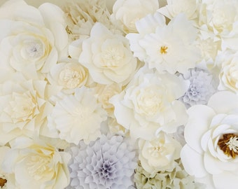 Paper Flower Wall, Paper Flower Backdrop, Large Paper Flowers