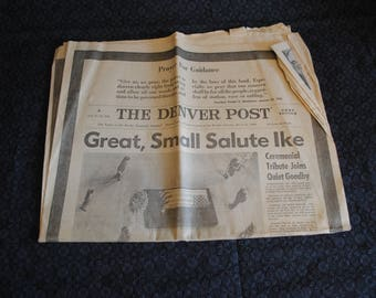 The Denver Post Colorado 1969 newspaper about President Eisenhower
