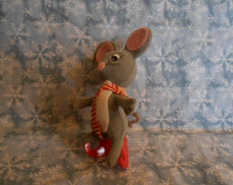 "Vintage Christmas Mouse Ornaments-4"" Tall-----#688"