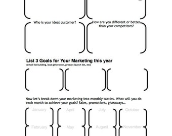 Annual Marketing Planner Template