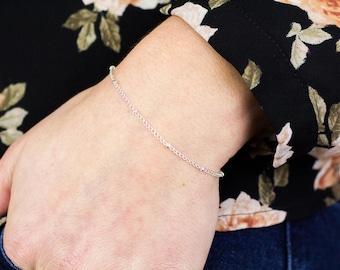 Dew Drop Bracelet, Satellite Bracelet, Thin Silver Bracelet, Dainty Silver Bracelet, Dew Drops Bracelet, Thin Chain Bracelet, Dew Drops