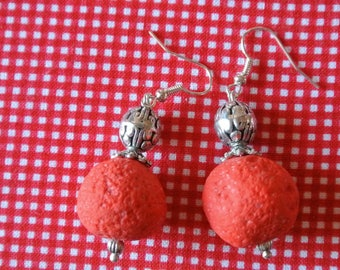 resin red lava beads