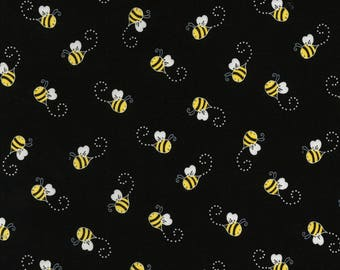 Timeless Treasures - You Are My Sunshine - Bees - Black - Fabric by the Yard C5496-BLK