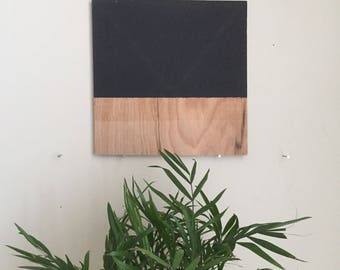 "Black Triangle 017, 8""x8"" painting on oak plywood"