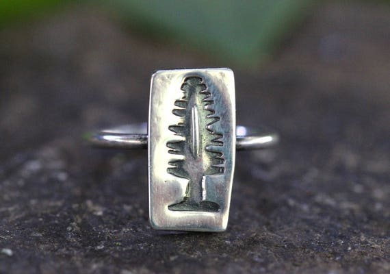 Pine Tree Ring Tree Jewelry Nature Ring Forest Ring Nature