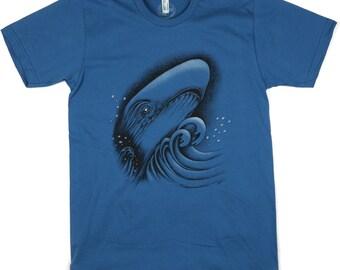 Whale: ORGANIC Cotton American Apparel Mens Tee