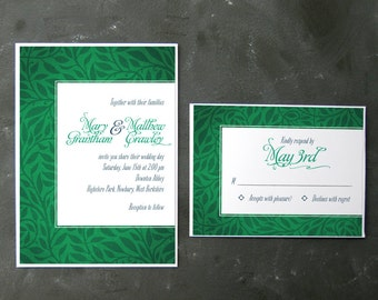 Mary and Matthew (from Downton Abbey) Wedding Invitations and RSVP