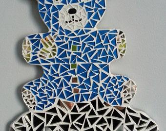 Coatrack in form of small mosaic bear