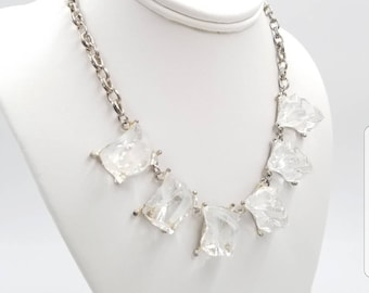 and necklace tortoise link j crew pav layered lucite crystal