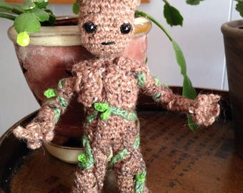 Baby Groot Vol. 2 Inspired Amigurumi - MADE to ORDER- Groot with legs, Guardians Vol. 2