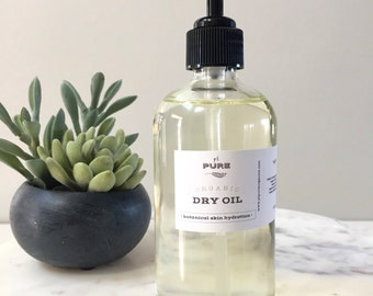 Organic Body Oil : skin hydration / non greasy / all natural botanicals / moisturizer / vegan / chemical free