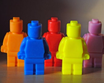 2 X Giant Type Soap figure- Kid soap, part favor, building block Men