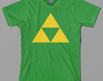 Triforce T Shirt  - legend of zelda, link, nintendo, ocarina, nes, gamecube, wii, 64, videogame - All sizes & colors available
