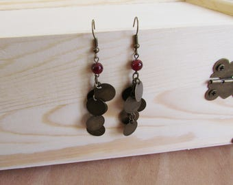 Bronze Cluster Earrings