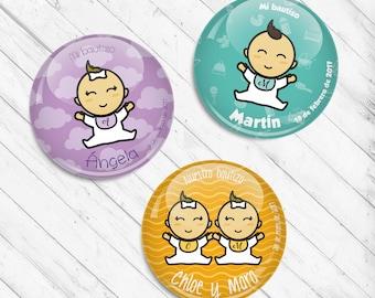 Chapas personalizadas para Bautizo: DIBUJO / Custom pinback buttons for Baptism PICTURE