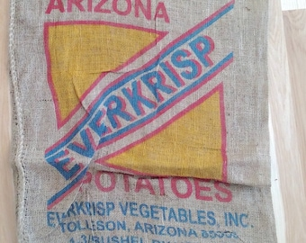 Potato Burlap Bag, Burlap Sack, Jute Fabric, Crafting Material