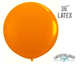 "36"" ORANGE giant latex balloon - Perfect for weddings, birthdays, photography props"