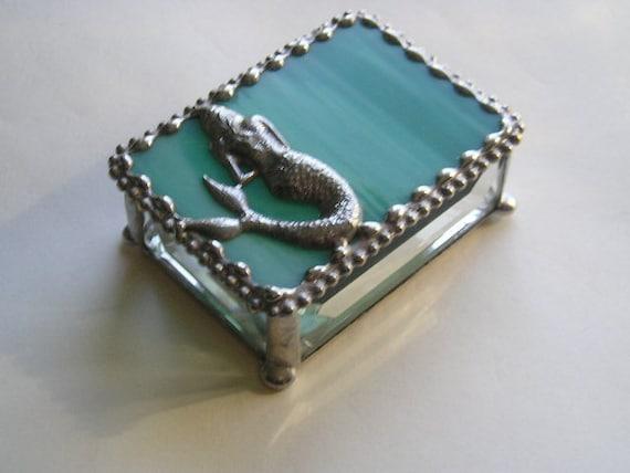 Stained Glass Jewelry BoxMermaidMermaid Jewelry BoxMermaid