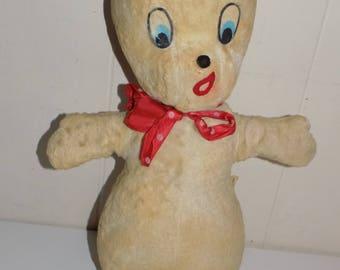 "Vintage Gund Casper the Ghost Plush Stuffed Toy Harvey Cartoons Approx. 15-1/2"""
