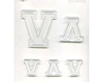 "Collegiate Letter ""V"" Chocolate Candy Mold"