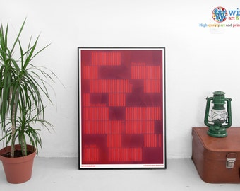 2001: A Space Odyssey by Stanley Kubrick Minimalist poster / print.  A must for sci-fi fans!