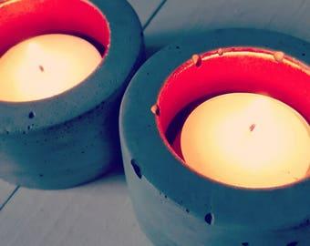 candle pots, concrete pot, concrete pots, concrete candles, candle lights, concrete design, tea light candle, tea lights, tea light holders