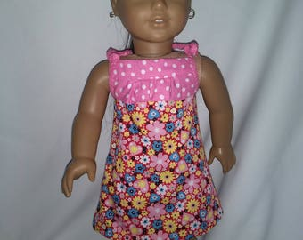 18 inch Doll Clothes fits American Girl Doll - Pink Sun Dress