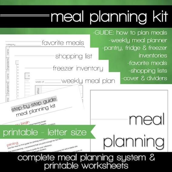 weekly meal plan worksheet