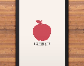 "NEW YORK Minimalist City Poster - 12"" x 18"""