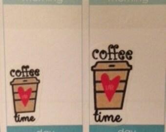 UN- Cut Coffee Iced Coffee Iced tea stickers for Erin Condren Life Planner Filofax Gillio