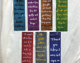 Throne of Glass series bookmark set 2 of 2