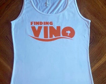 Finding Vino Juniors Fit Tank Top - Epcot Food and Wine Festival - Drinking Around the World - Disney Inspired - Nemo