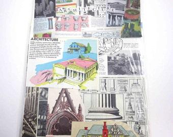 Architecture Ephemera Pack 65 Pieces of Original Vintage Ephemera for Altered Art