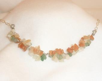 Jade, Aventurine Southwestern Twisted Necklace