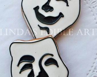 Theater Mask Cookies (1 Dozen)