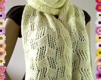 KNITTING PATTERN SCARF Cool Breeze Scarf pdf pattern Instant Download woman cowl scarf, girl knitted scarf pattern
