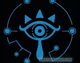 Zelda Breath of the Wild Sheikah Eye Vinyl Decal - BoTW - Nintendo