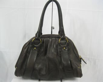 Thick Brown Leather Banana Republic Satchel