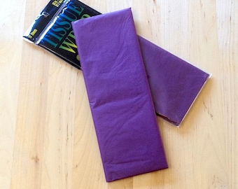 Purple Tissue Paper - 10 Sheets - Gift Wrap - Craft and Party Supplies