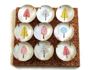 Funky Push Pins  Decorative Push Pins Thumb Tacks Cork Board Pins in Tiny Trees (P109)