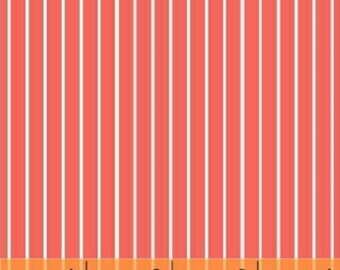 Windham - Citrus by Another Point of View Pencil Stripe 37515-6 in Red